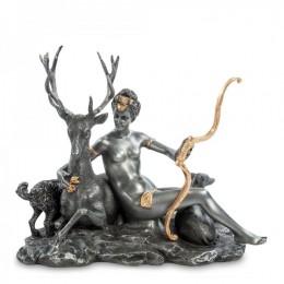 "Статуэтка Veronese ""Диана - Богиня Луны и Охоты"" (black/gold)"