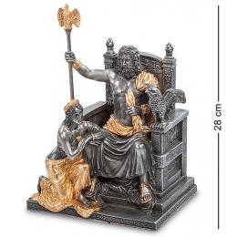 """Статуэтка Veronese """"Зевс и Гера на троне"""" 28см (black/gold)"""