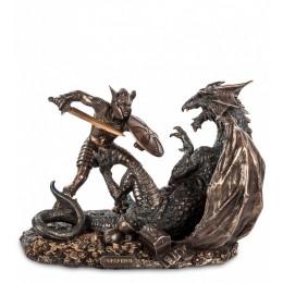 "Статуэтка Veronese ""Зигфрид, побеждающий Дракона"" (bronze/gold)"