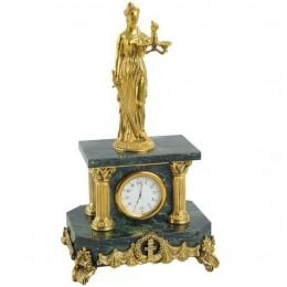 """Настольные бронзовые часы """"Фемида"""" выс.27см"""