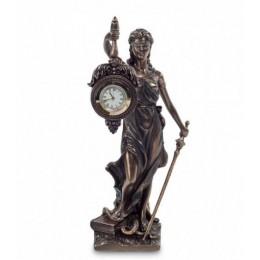 "Статуэтка с часами Veronese ""Фемида - богиня правосудия"" (bronze)"