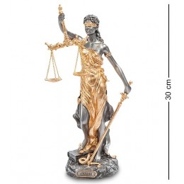 "Статуэтка Veronese ""Фемида-богиня правосудия"" (black/gold)"