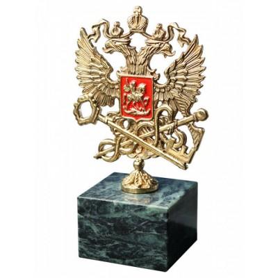 """Бронзовая фигурка """"Герб ФНС"""" выс.11см"""