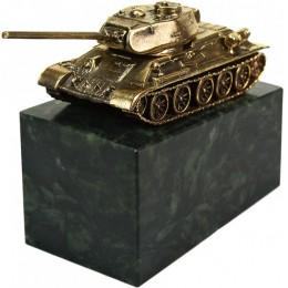 "Бронзовая статуэтка "" Танк Т-34"""