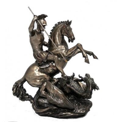 """Бронзовая статуэтка """"Георгий Победоносец"""""""
