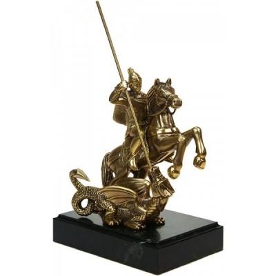 """Бронзовая статуэтка """"Георгий Победоносец"""" выс.19,5см"""