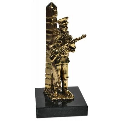 """Бронзовая статуэтка """"Пограничник"""""""
