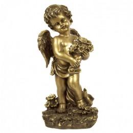 """Декоративная статуэтка """"Ангел с букетом"""", выс.42см"""
