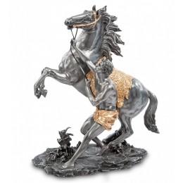 """Статуэтка Veronese """"Конь Марли (скульптура Гийом Кусту)"""" black/gold"""