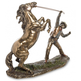 """Статуэтка Veronese """"Ковбой, укрощающий лошадь"""" (bronze)"""