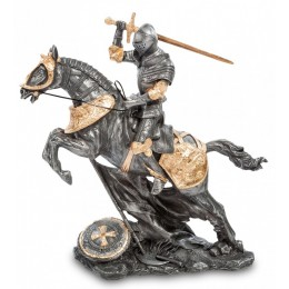 "Статуэтка Veronese ""Рыцарь на коне"" (black/gold)"