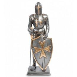 """Статуэтка Veronese """"Рыцарь с мальтийским крестом на щите"""" (black/gold)"""