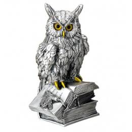 """Посеребрённая статуэтка """"Филин на книгах"""""""