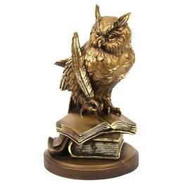 "Скульптура на подставке ""Мудрая сова"" 21см"