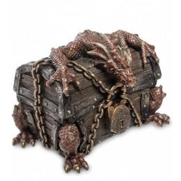 """Шкатулка Veronese """"Дракон на сундуке"""" (bronze)"""