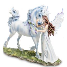 "Статуэтка Veronese ""Ангел и Единорог"" (Джоди Бергсма) (color)"