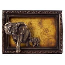 "Картина барельефная ""Слоны"" 39 х 14 х 27 см"
