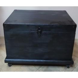 """Сундук деревянный на колесах """"Village"""", 64см (черный)"""