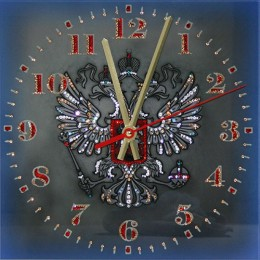 "Часы с кристаллами Swarovski ""Герб РФ"""