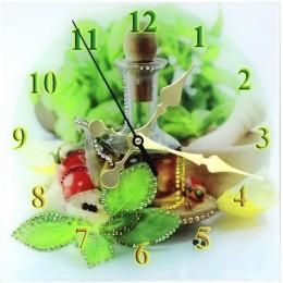 """Декоративные часы с кристаллами Swarovski """"Кухня"""""""