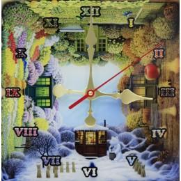 """Декоративные часы с кристаллами Swarovski """"Времена года"""""""
