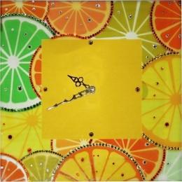 "Настенные часы с кристаллами Swarovski ""Апельсины"""