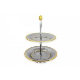 "Декоративная двухъярусная ваза для фруктов ""Dubai Gold"""