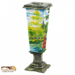 """Декоративная ваза из натурального камня """"Осень"""" выс.37см"""