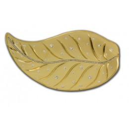 """Декоративное керамическое блюдо """"Golden leaflet"""""""
