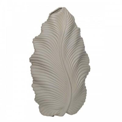 """Декоративная керамическая ваза """"Leaf"""" (бежевая), h 39 см"""