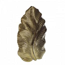 """Декоративная керамическая ваза """"Leaf"""" (золотая) h 44,5 см"""