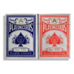 """Карты с ламинированным покрытием """"Playingcards blue and red"""""""