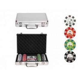 """Набор для покера на 200 фишек в жестяной коробке с сукном """"Texas Holdem"""""""