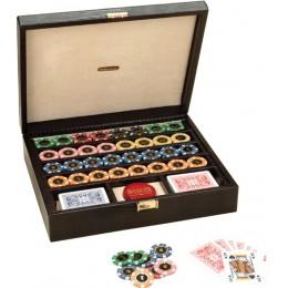 """Набор для покера Renzo Romagnoli кейс из змеиной кожи """"Royal Deluxe"""""""