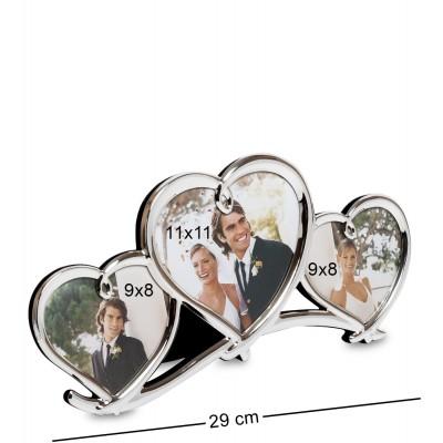 """CHK-036 Фоторамка """"Влюбленные сердца"""" (на 3 фото: 9х8, 11х11)"""