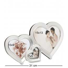 """CHK-039 Фоторамка """"Влюбленные сердца"""" (на 3 фото: 10х9, 7х5, 15х13)"""