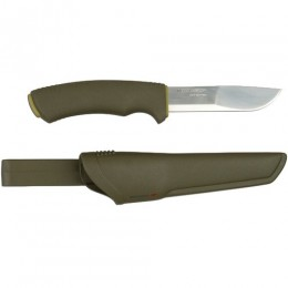Нож Morakniv BushCraft Forest, нержавеющая сталь, рез. рукоять, 12493