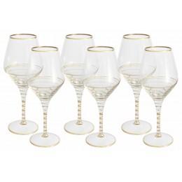 Набор: 6 бокалов для вина Спираль (золото)