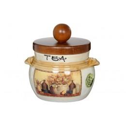 Банка для чая с деревянной крышкой Натюрморт