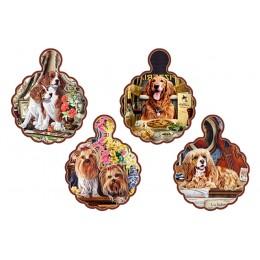 Подставка керамическая (волнистая) Собаки в ассортименте