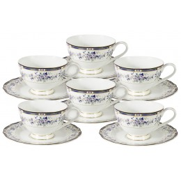 Набор 12 предметов Маркиза: 6 чашек + 6 блюдец