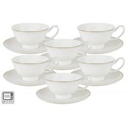 Набор Кимберли 12 предметов: 6 чашек + 6 блюдец