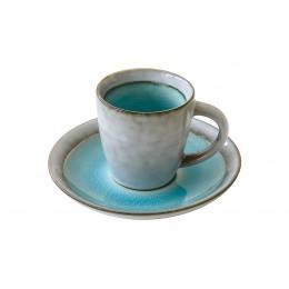 Чашка с блюдцем Origin (голубая) без инд.упаковки