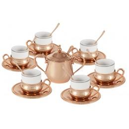 Кофейный набор на 6 персон Экстра-люкс с отделкой под розовое золото