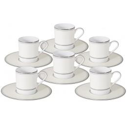 Кофейный набор Жемчуг: 6 чашек + 6 блюдец