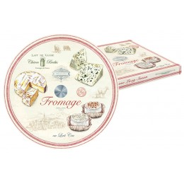 Блюдо стекл. д/сыра (вращающееся) FROMAGE в подарочной упаковке