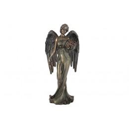 Статуэтка Ангел с корзиной цветов