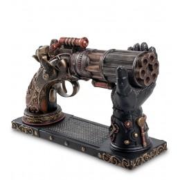 "WS-284 Статуэтка в стиле Стимпанк ""Револьвер"" на подставке"