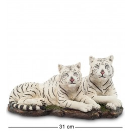 """WS-703 Статуэтка """"Белые тигры"""""""