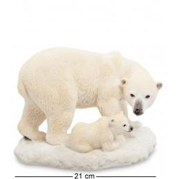 """WS-706 Статуэтка """"Белый медведь с детенышем"""""""
